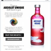 Absolut Unique Facebook App home
