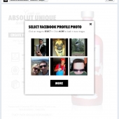Using Facebook Connect choose a profile image